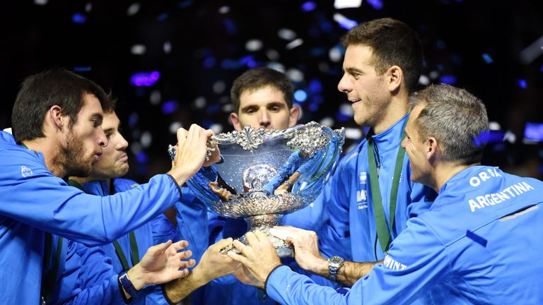 Del Potro helped Argentina win the Davis Cup