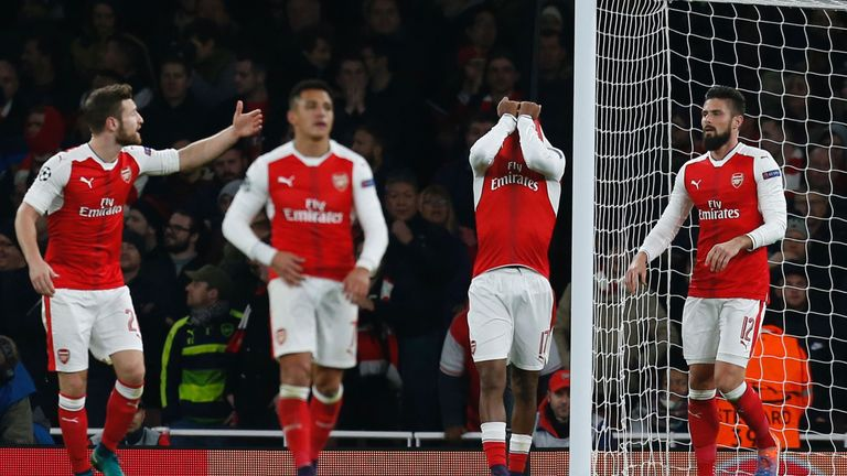 The Gunners drew 2-2 with PSG on Wednesday night, their third straight draw