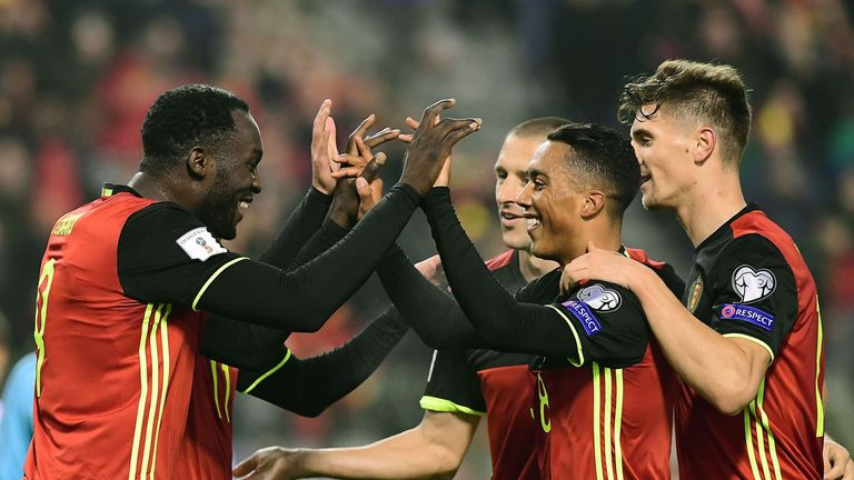 Romelu Lukaku scored 11 goals for Belgium in World Cup qualifying as they topped Group H by nine points