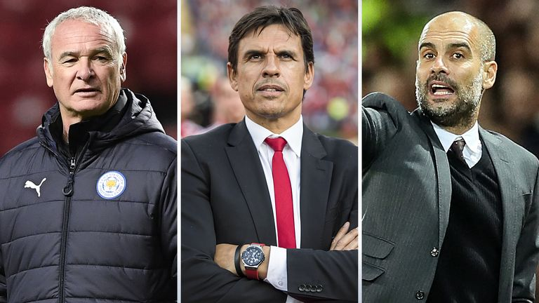 Claudio Ranieri, Chris Coleman and Pep Guardiola are named on a 10-man shortlist for FIFA men's coach of the year