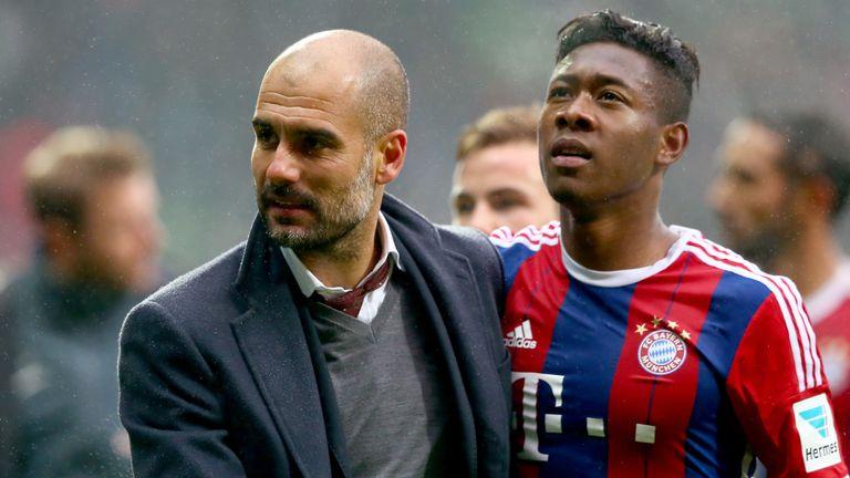 David Alaba worked with Pep Guardiola at Bayern Munich