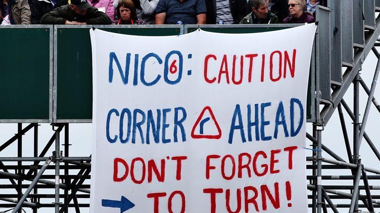 Fans at the British GP send a message to Nico Rosberg - Picture from Getty Images