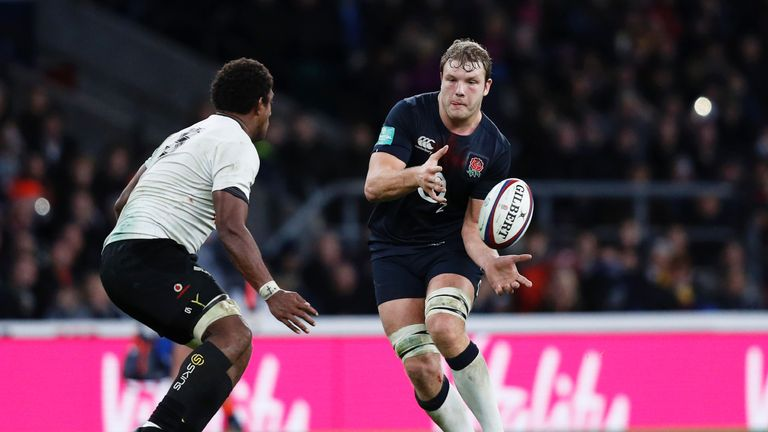 Joe Launchbury will resume his second-row partnership with Courtney Lawes