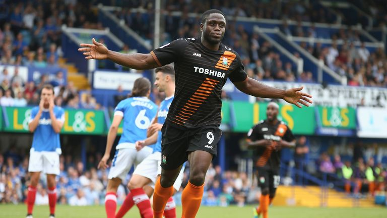 Barnet striker John Akinde is on the League Two shortlist