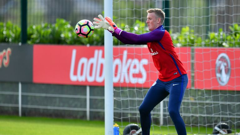Jordan Pickford replaced the injured Fraser Forster in the England squad