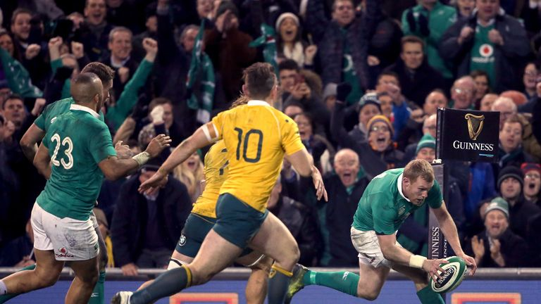 Keith Earls scored the winning try in Dublin as injury-ravaged  Ireland somehow pulled off an unlikely win