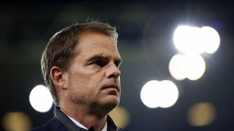 De Boer was let go last week after a poor start to the campaign