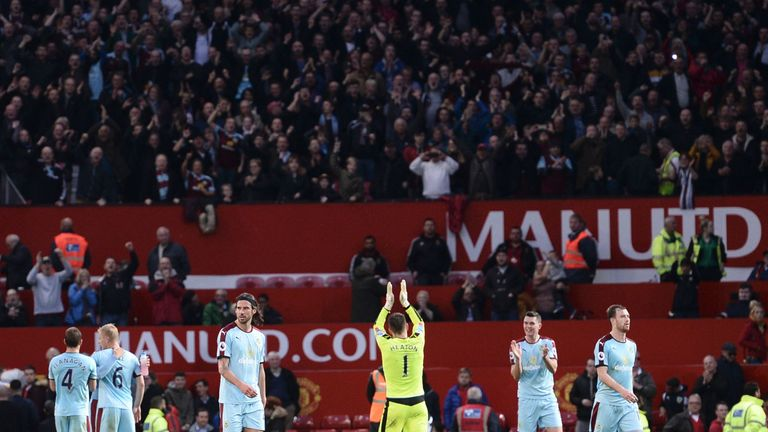 Burnley's only away point in the Premier League so far came against Manchester United at Old Trafford on October 29