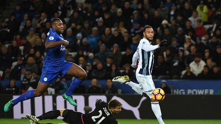 Phillips (right) hit the winner for West Brom