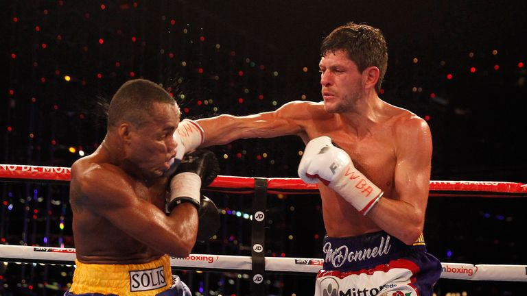 McDonnell will make the sixth defence of his WBA title in the rematch with Solis