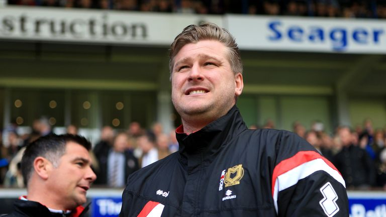 Karl Robinson: Faced his former club on Saturday