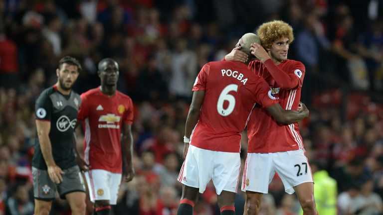 Paul Pogba and Marouane Fellaini will not feature on Wednesday