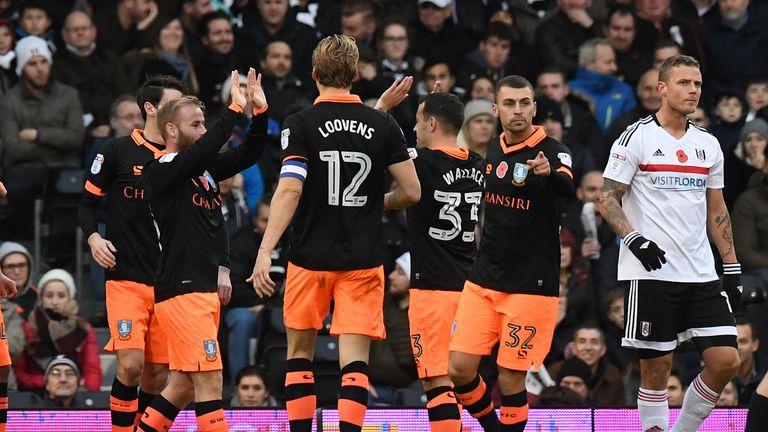 Sheffield Wednesday's Fernando Forestieri celebrates