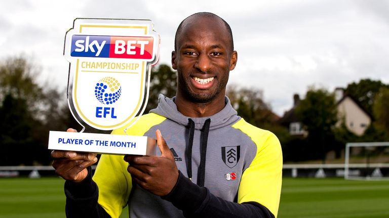 Sone Aluko was named Sky Bet Championship player of the month