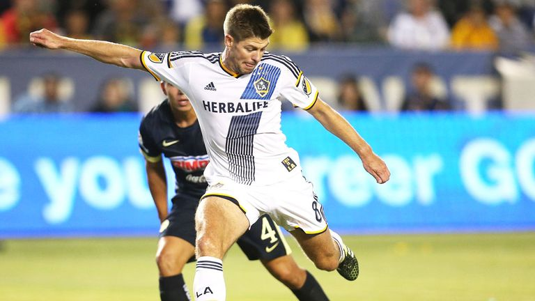 Gerrard spent 18 months at LA Galaxy before retiring at the age of 36