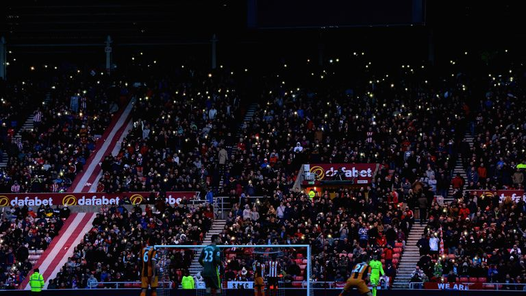 The match was held up for 10 minutes due to a second-half floodlight failure