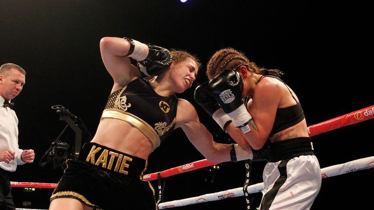 Katie Taylor needed less than five minutes to stop Karina Kopinska on debut