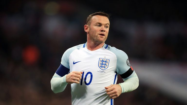 Wayne Rooney was released before the draw with Spain with a knee complaint