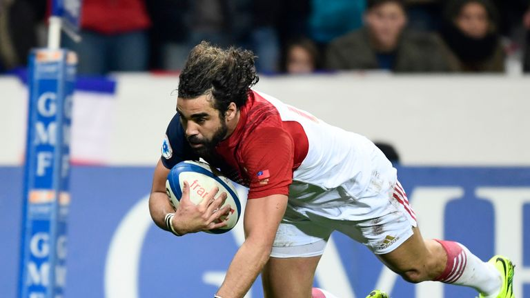 Yaonn Huget was among the France try-scorers against Samoa on his return from injury