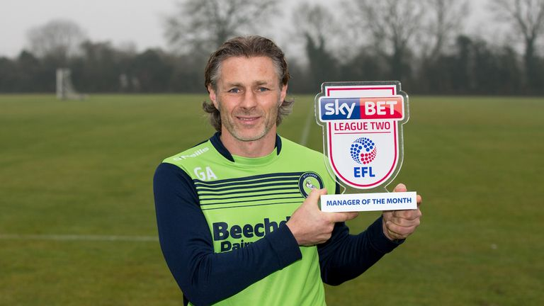 The League Two manager's award went to Gareth Ainsworth of Wycombe