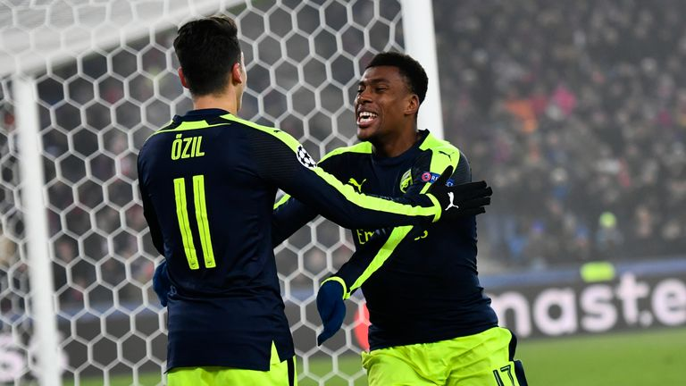 Alex Iwobi rounded off a fine evening for the Gunners