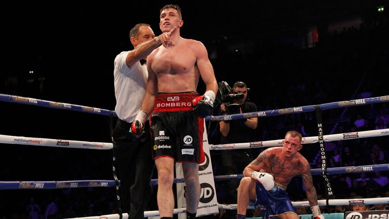Blackledge climbed off the canvas on two occasions
