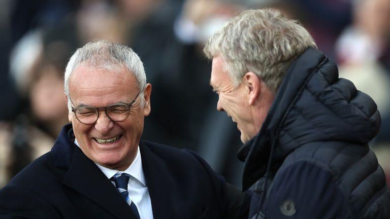 Claudio Ranieri and David Moyes were all smiles ahead of kick-off