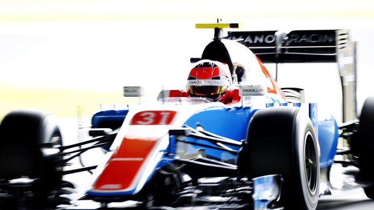 Manor's Esteban Ocon shines bright during qualifying for the Japanese GP - Picture from Sutton Images