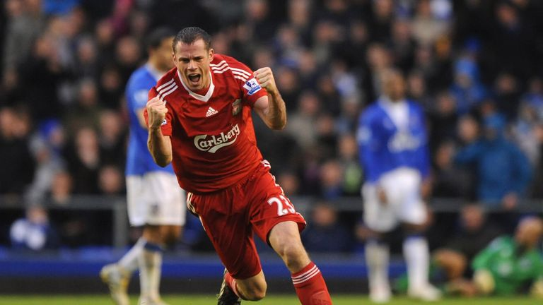 Jamie Carragher played in 30 Merseyside derbies
