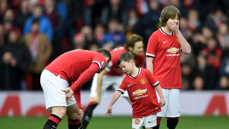 Kai Rooney has been a mascot at Old Trafford on numerous occasions but now plays for City