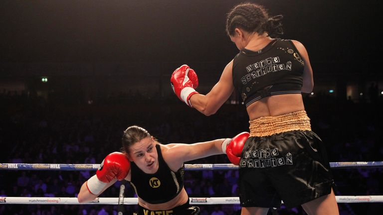 Katie Taylor cruised to her second career victory after outpointing Viviane Obenauf at the Manchester Arena