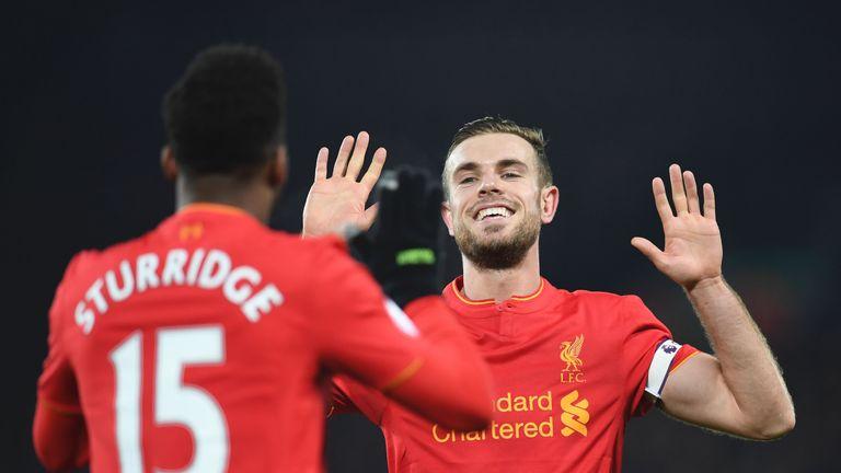 Daniel Sturridge and Jordan Henderson could both miss Liverpool's game against Burnley on Sunday