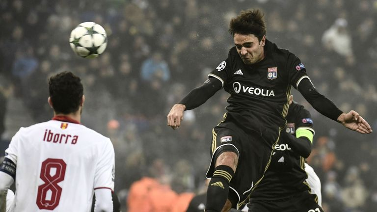 Clement Grenier (centre) is expected to leave Lyon in January