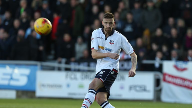 Mark Beevers of Bolton Wanderers in action against Northampton Town