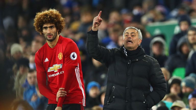 Jose Mourinho introduced Marouane Fellaini in the second half, but the Belgian conceded a late penalty