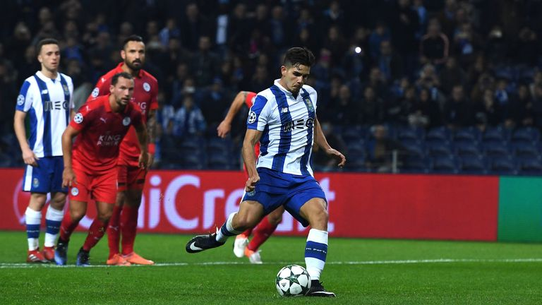 Andre Silva converts the hosts' fourth from the spot
