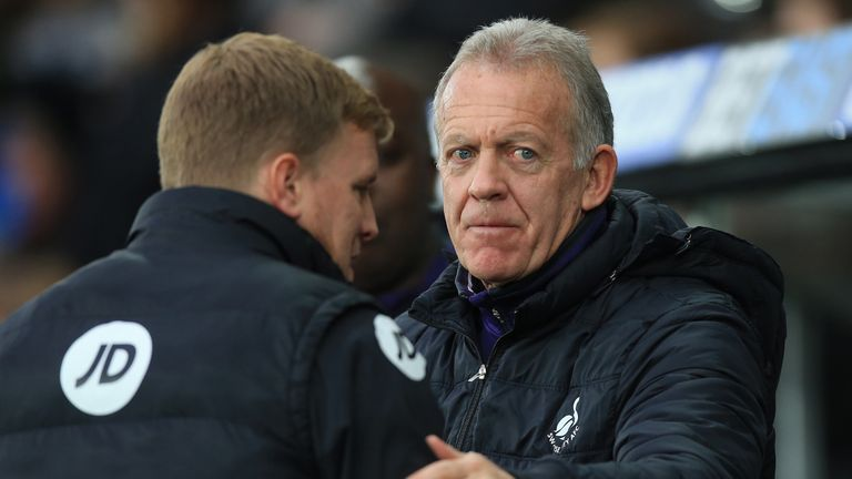 Swansea City caretaker manager Alan Curtis made seven changes to their starting line-up