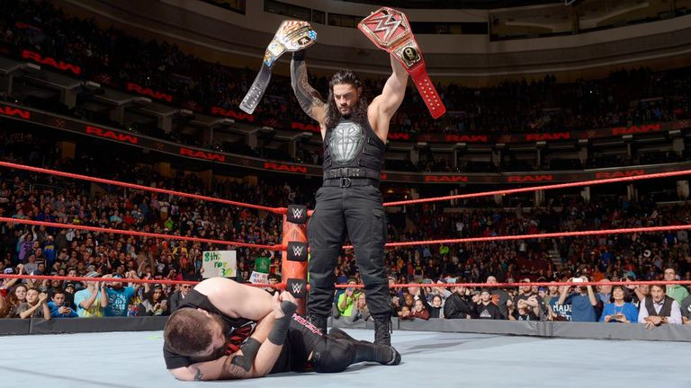 Roman Reigns floored Kevin Owens at the end of Raw