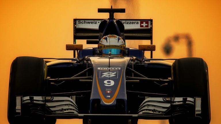 The Sauber of Marcus Ericsson in Abu Dhabi - Picture from Sutton Images