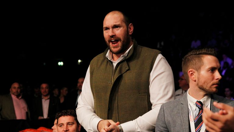 Tyson Fury is currently without a boxing licence after being suspended by the British Boxing Board of Control