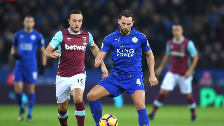 Mark Noble closes down Danny Drinkwater