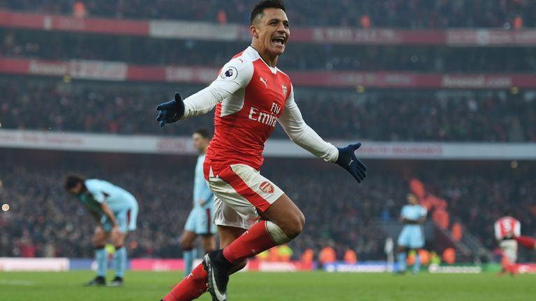 Alexis Sanchez is the Premier League's joint-top scorer with 17 goals