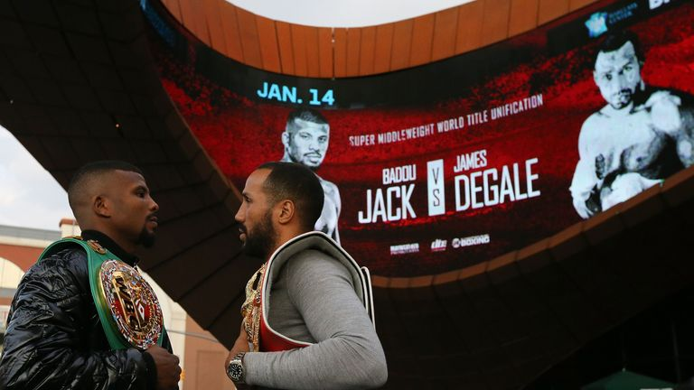 WBC world champion Badou Jack (left) and IBF world champion James DeGale will battle to become the world's No 1 on Sunday morning