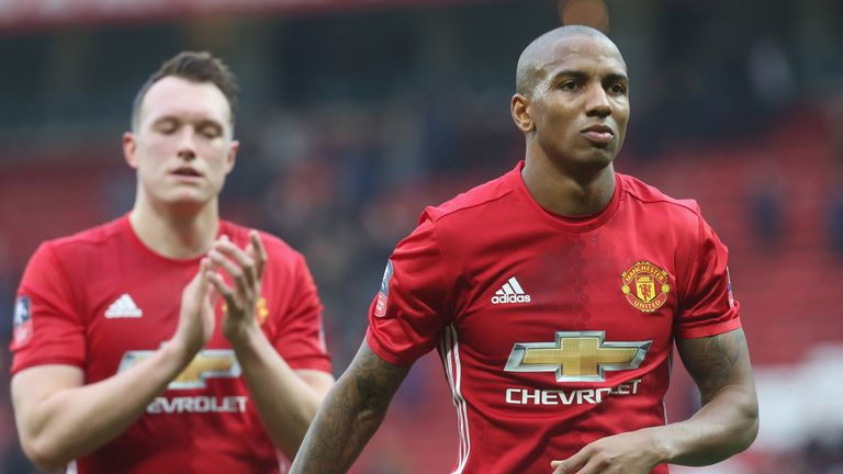 Ashley Young has made only 10 appearances for United this season