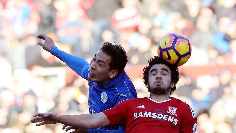 Leonardo Ulloa (L) is a January target for Sunderland
