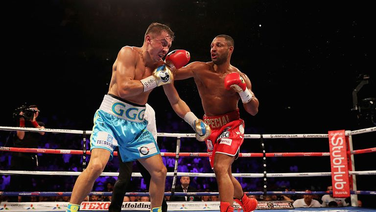 Brook troubled Golovkin in the second round