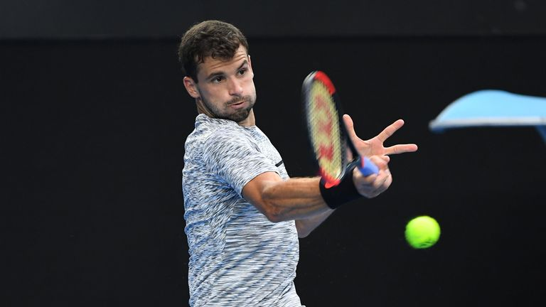 Grigor Dimitrov booked his place in the Australian Open quarter-final for the second time