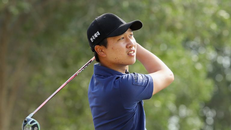 Wang rolled in seven birdies to pull three clear of the field