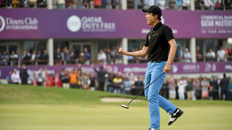 Wang prevailed in a three-way play-off in Qatar