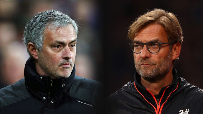 Jose Mourinho and Jurgen Klopp have met on seven previous occasions